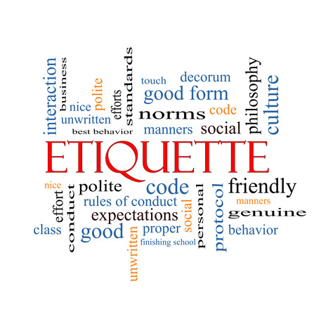 Etiquette Word Cloud